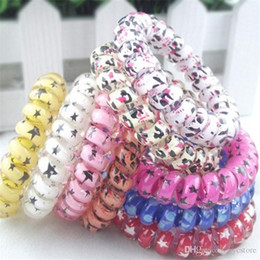 Wholesale Mix Color Leopard Big Size Hair Rings Telephone Wire Elastics Bobbles Hair Tie Bands Kids Adult Hair Accessories Can Used As Bracelets