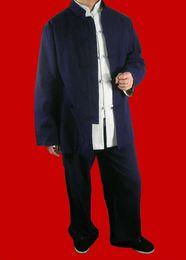 $enCountryForm.capitalKeyWord Australia - Premium Linen Blue Kung Fu Martial Arts Taichi Uniform Suit XS-XL or Tailor Custom Made