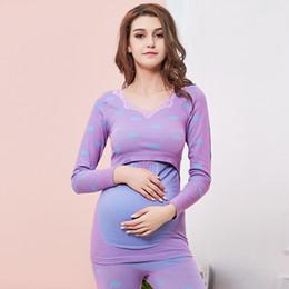 84af58ba4472d Nursing Pajamas Canada - Maternity Nursing Sleepwear Pregnant Women Breastfeeding  Pajamas Sets Long Sleeve Stretchy Maternity