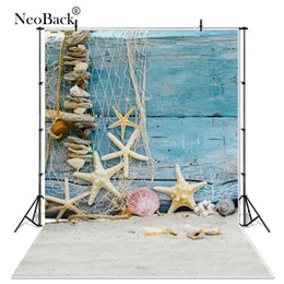 blue studio background 2019 - NeoBack Thin Vinyl summer sunshine sea beach photo studio background vinyl digital cloth blue sky photography backdrops