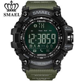 SMAEL Bluetooth Smart Watch Sport Orologio maschile Promemoria Call Calorie Uomini digitali Smart Watche Dispositivi indossabili per iOS Android Phone