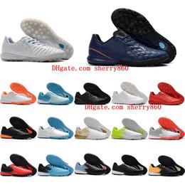 c6308f5778c 2018 mens soccer shoes TimpoX Finale IC TF football boots turf indoor  soccer cleats X Tiempo Legend VII MD chuteiras de futebol Original