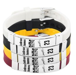$enCountryForm.capitalKeyWord Australia - 2018NEW James Basketball Bracelet Silicone Stainless Steel adjustable Wristband