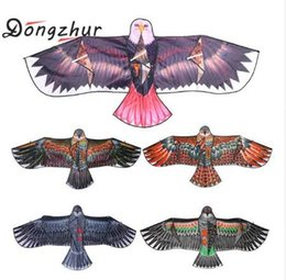 toy gardens NZ - 1.1m Flat Eagle Kite Big Fly Bird Kite For Children Flying Bird Kites Windsock Outdoor Toys Garden Cloth Funny Toys for Kids