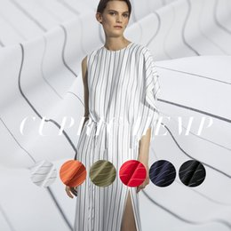diy summer clothing 2018 - High-end custom Concise Slub Rayon&Linen Fabric For Summer Width 145cm Coarse&Fine Stripes Clothing cloth DIY Sewing 201