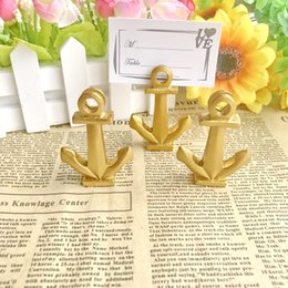 $enCountryForm.capitalKeyWord NZ - FREE SHIPPING(15pcs Lot)+Gold Nautical Anchor Place Card Holder Golden Wedding Party Table Decoration Favors