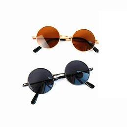 0550d9ea00de Children's glasses anti-ultraviolet cute boys and girls fashion round frame  retro sunglasses shade