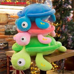 $enCountryForm.capitalKeyWord NZ - New arriving 30cm colorful Big Eyes Turtle Plush Toy Turtle Doll Turtle Kids As Birthday Christmas Gift Free shipping