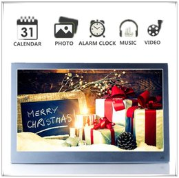 Video digital picture frame online shopping - new Digital Photo Picture Frame inch IPS x1080 HD Video p Advertising Machine Alarm Clock MP3 MP4 Movie Player