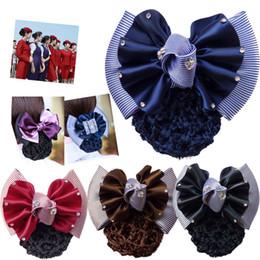 $enCountryForm.capitalKeyWord NZ - Bow Women Hair Snood Cover Bun Net Hair Clips Hairpins Hair Accessories for Women Girl Wedding Barrettes Headwear