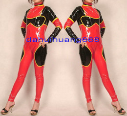 $enCountryForm.capitalKeyWord NZ - Sexy Women Body Suit New Multicolour PVC Suit Catsuit Costumes Sexy Shiny PVC Women Bodysuit Costumes Halloween Party Costumes DH201
