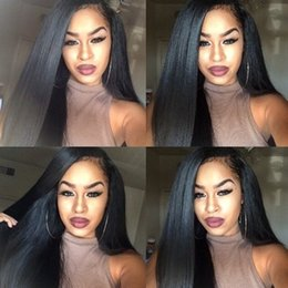 Discount light hair - Silk Top Full Lace Wigs Silky Straight Peruvian 5*4.5 Silk Base Glueless Silk Top Lace Front Human Hair Wigs With Natura