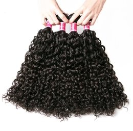 $enCountryForm.capitalKeyWord Australia - Peruvian Water Wave Bundles 100% Human Hair Weave Jet Black 8-28 Inch One Piece 3 Bundles 4 Bundles Remy Hair Extension