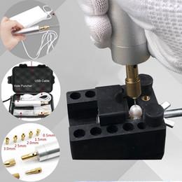 USB мини-Жемчужина пробивая DIY дырокол 6000 об / мин ювелирные изделия делая инструменты diy кольцо ожерелье дырокол + бит + патрон на Распродаже