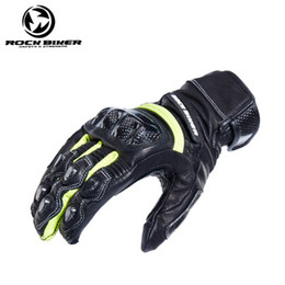 $enCountryForm.capitalKeyWord NZ - ROCK BIKER RBG020 men four seasons Breathable carbon fibre leather motorcycle gloves  racing gloves riding gloves  Outdoor sports Gloves