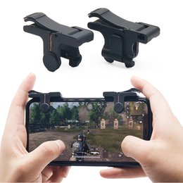 GaminG controller for mobile online shopping - C9 Pair Mobile Fire Button Aim Key for PUBG Game Rules of Survival Smart phone Mobile Gaming Trigger L1R1 Shooter Controller