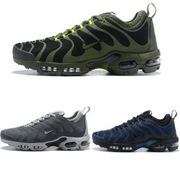Discount air plus shoes - Hot Sale Brand Mens Chaussures Plus TN Ultra Air Running Shoes Cushion Maxes Grey Blue Army Green Sneakers For Men 1901