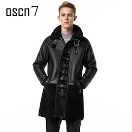 $enCountryForm.capitalKeyWord UK - OSCN7 Letter Mens Long Leather Trench Coat Winter Leather Casual Fur Coat Men Loose Casual Black Mens Faux Fur Coats 3XL