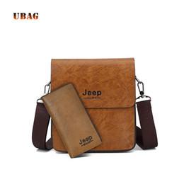 e8d3f571d22 UABG Brand 2018 Men Messenger Bags Set Vintage PU Leather Business Shoulder  Bag & Wallet High Quality Male Crossbody Bag For Men