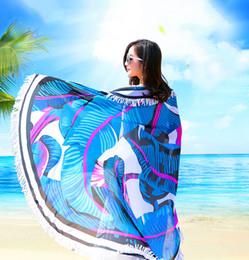 $enCountryForm.capitalKeyWord Australia - Woman beach towel lady scarf summer sun block chiffon shawls scarf fashion swimwear for girls bikini cover up sarong round shawl 130x130cm