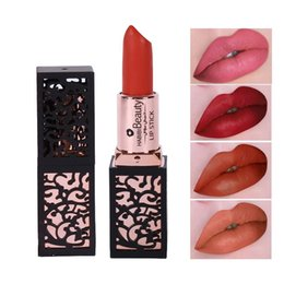 dark red matte lipstick Canada - Beauty Hot Matte Lips Makeup Kit 8 Colors Square Lip Stick Long Lasting Pigment Sexy Dark Red Matte Luxury Lipstick Lot