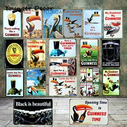 Ingrosso Retro Beer Metal Segni Dart Per Un Guinness Vintage Metallo Poster Bar Club Home Decorazione di Arte Della Parete Targhe di Ferro Costa Rica YA071