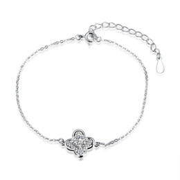 $enCountryForm.capitalKeyWord Canada - Real 925 sterling silver links chains bracelet , personality top selling charms flower silver bracelets lady jewelry free shipping h053