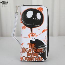 $enCountryForm.capitalKeyWord NZ - Child Christmas Gift Girl Boy Cartoon Wallet Purse Leather Wrist Wallets Purses Card Case The Nightmare before Christmas
