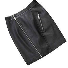 73dfe6d8b682c feitong Women Skirt Faux Leather High Waist Skater Flared Pleated Short  Mini Skirt oodji lolita vadim saia longa  A30