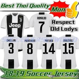 3f2fa7848 2019 Juventus Home Soccer Jersey 18 19  7 RONALDO DYBALA Soccer Shirt  MARCHISIO MANDZUKIC PJANIC FANS PLAYER VERSION Football Uniform Sales