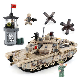 Discount bricks toys army - wholesale Army Military Type 99 Main Battle Tank Building Blocks Bricks Classic Technic Model Kids Toy Gift Compatible L