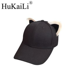 $enCountryForm.capitalKeyWord UK - The new cat ears baseball cap made of pure cotton equestrian cap topi female cute hat