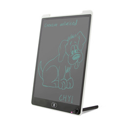 Tablets Writing Stylus UK - Wholesale Portable 12inch White LCD Writing Tablet,Screen Lock Electronic Writing Board,Drawing Board,Notepad with stylus for Kids,Adults