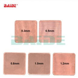 laptop pad copper Canada - Copper Sheet Shim Piece Heat Sink 20 * 20mm 0.3 0.5 0.8 1.0 1.2 mm Thermal Pad For Laptop GPU CPU 1000pcs lot