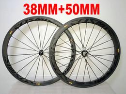 Road Bicycle Wheel Sets Australia - Black on Black COSMIC 38MM+ 50MM 700c carbon fiber wheelset 700C road bike full carbon bicycle wheels