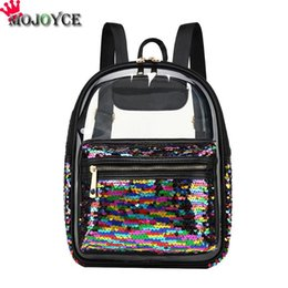 Women Clear Backpack Transparent Fashion Sequin Summer Cute Shoulder Bags  school bags for teenage girls sac a dos c77a5c0b54