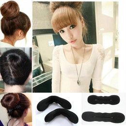 braided buns black hair 2019 - Styling Tools Foam Sponge Hair Clips Donut Bun Former Maker Roll Twist Black Sponge Braiding Hair Accessories cheap brai