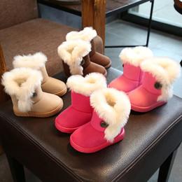 toddler flat shoes 2019 - Baby Shoes Hot Sale Kids Snow Boots Children Thicken Waterproof Non-slip Keep Warm Cotton Boots Newborn Toddler Winter S
