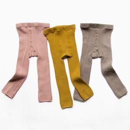 Baby Cotton Winter Tights Pants UK - Toddler Baby Girls Autumn Leggings Footless Tights Kids Little Girls Dress Bottom Pants Warm Stockings