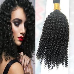 Brazilian Kinky Curly Braiding Hair UK - Mongolian Kinky Curly Bulk Hair 100g Afro Kinky Curly Human Hair For Braiding Bulk No Attachment 1pcs No Weft Human Hair Bulk For Braiding