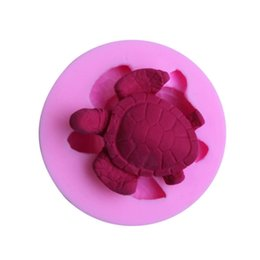 silicone cakes decoration NZ - Silicone cake mould turtle fondant molds non stick handmade chocolate mold 3D silicone baking mold cake decoration soap mold