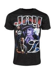 T-SHIRTS IMPRIMÉS HIP HOP pour hommes Jay-Z Violet - Manches courtes pour hommes - Chemises de cérémonie - T-shirt à manches courtes - T-shirt à imprimé drôle en Solde