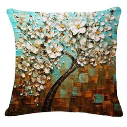 China Tree Leaves Bed Home Bedroom Festival Pillowcase Pillow Cover Brand New Comfortable High Quality Droship 45cm*45cm 10AUG 1 Pillow Case cheap sky bedding suppliers