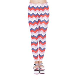 China Women Leggings Zig Zag 3D Graphic Print Girl Skinny Stretchy Yoga Wear Pants Lady Sportwear Tight Capris Soft Trousers (YX52114) cheap wear striped tights suppliers