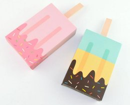Ice cream bIrthday gIfts online shopping - Gift Wrap Ice Cream Shape Gift Boxes Baby Shower Birthday Party Candy Box Cartoon Drawer Gift Bag for Kids Party Favor Box