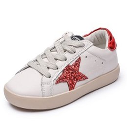 8f51a03f9d31 2018 New Fashion Baby Girl Sport Star Gold Shoe Kid Glitter Sneaker Children  Pu Leather Breathable Trainer Children Casual Shoe