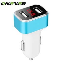 Onever 3.1A Mini Dual USB Автомобильное зарядное устройство Вольтметр Дисплей Напряжение тока DC 12-24V для iPhone 8 Plus Samsung S7 / S8 Таблетки Камера