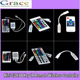 $enCountryForm.capitalKeyWord Australia - For 3528 5050 RGB LED Strip Light Mini 3 24 44 Key IR Remote Wireless Controller