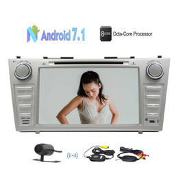 Camry touCh sCreen player online shopping - EinCar Car Stereo Radio for Toyota Camry Android Octa Core Car GPS Navigation In Dash Bluetooth car DVD Player