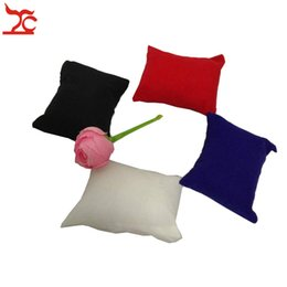 velvet pillow displays wholesale NZ - Big Sale 20Pcs Velvet Jewelry Display Holder Chain Bracelet Bangle Pillow Economic Watch Bead Chain Organizer Pillow Cushion Stand Box
